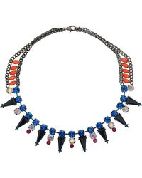Topshop Triangle Stone Collar Necklace - Lyst