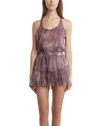 Loveshackfancy Ruffle Racer Mini Dress - Lyst