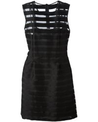 Sonia By Sonia Rykiel Sheer Stripe Dress - Lyst