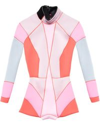 Cynthia Rowley Colorblock Wetsuit pink - Lyst