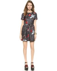 Suno Cap Sleeve Floral Dress - Dotted Floral - Lyst