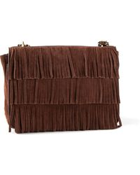 Tory Burch Fringed Shoulder Bag - Lyst