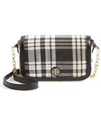 Tory Burch 'Mini Robinson Plaid' Crossbody Bag - Lyst