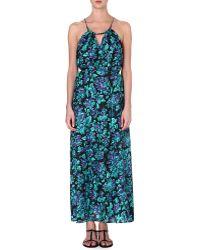 Zimmermann Floral Silk Maxi Dress Floral - Lyst