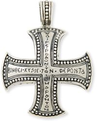Konstantino Mens Dare Sterling Silver Cross Pendant - Lyst