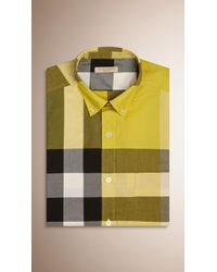 Burberry | Giant Exploded Check Cotton Shirt | Lyst