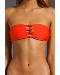Mikoh Monaco Cut Out Bandeau - Lyst