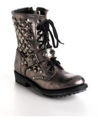 Ash Ryanna Studded Leather Boots - Lyst