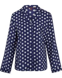 Princesse Tam-Tam - Blue Rose Polka Dot Pyjama Top - Lyst