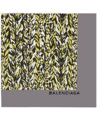 Balenciaga Graphic Knit Scarf - Lyst