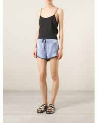 Forte Forte Contrasted Seam Shorts - Lyst
