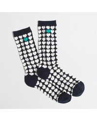 J.Crew Factory Stacked Hearts Trouser Socks - Lyst
