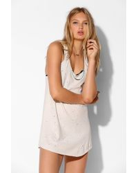 Truly Madly Deeply - Distressed Racerback Tank Dress - Lyst