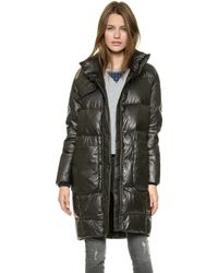 Tess Giberson - Funnel Down Coat Black - Lyst