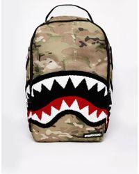 Sprayground Camo Backpack - Lyst