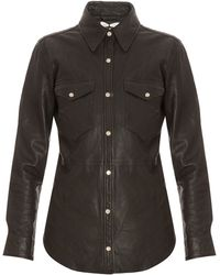Etoile Isabel Marant Brent Leather Shirt Jacket - Lyst