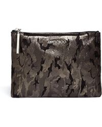 Jimmy Choo | Camouflage Zip Leather Pouch | Lyst