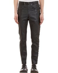 Maison Martin Margiela Laceup Side Leather Pants - Lyst