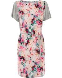 Oasis Tie Dye T-Shirt Dress pink - Lyst