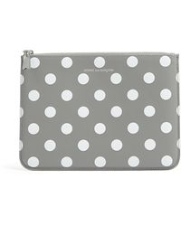 Comme Des Garcons Wallets Grey Polka Dots Printed Zip Pouch - Lyst
