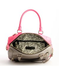 Rebecca Minkoff Neon Pink and Grey Leather Convertible Top Handle Bag - Lyst