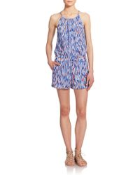 Splendid Tahitian-Print Short Jumpsuit - Lyst