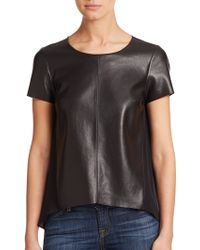 Bailey 44 Calessino Faux-Leather Top - Lyst