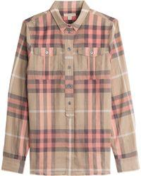 Burberry Brit Check Print Cotton Tunic - Lyst