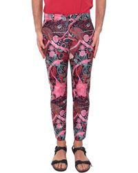 Dent De Man - Printed Cotton Trousers - Lyst