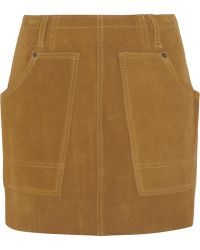 Coach Suede Mini Skirt - Lyst