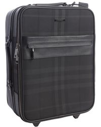 Burberry - Nova Check And Leather Trim Rolly Suitcase - Lyst