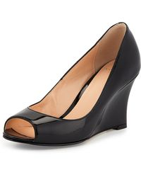 Cole Haan Lena Patent Wedge Pump - Lyst