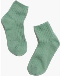Madewell 1937 Ribbed Speckle Ankle Socks - Lyst