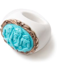 Amedeo - Turquois And Diamond Monkeys Ring - Lyst