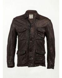 Billy Reid Military Shirt Jacket - Lyst