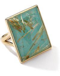 Ippolita - 18k Gold Gelato Medium Rutilated Quartz/turquoise Ring - Lyst