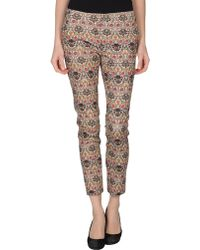 Manila Grace Casual Trouser - Lyst
