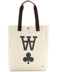 WOOD WOOD - Printed Canvas Tote Bag - Lyst