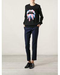 Markus Lupfer Union Jack Lip Sweatshirt - Lyst