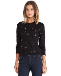 Rag & Bone Splatter Paint Sweatshirt - Lyst