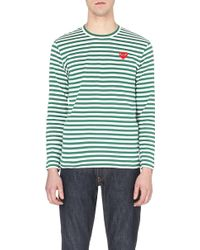 Comme Des Garçons Striped Cotton-Jersey Top - For Men - Lyst