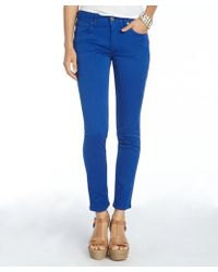 Burberry Brit Bright Cobalt Stretch Cotton Foxton Skinny Pants - Lyst