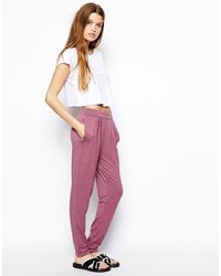 Asos Purple Peg Pants - Lyst