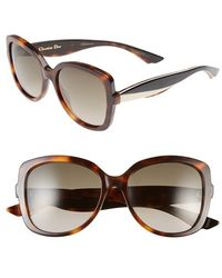 Dior 'Envol 2' 55Mm Retro Sunglasses - Havana/ Ivory/ Black - Lyst