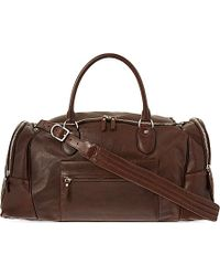 Brunello Cucinelli Leather Weekend Bag - For Men - Lyst