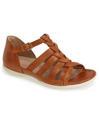 Ecco 'Flash' Woven Leather Sandal - Lyst