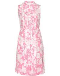 Miu Miu Printed Silk Mini Dress - Lyst