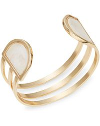 Panacea - Stone-accented Tiered Cuff Bracelet - Lyst