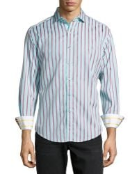 Robert Graham Elba Tailored Mix-Print Sport Shirt - Lyst