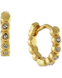 Vince Camuto - Goldtone Glitz Huggie Earrings - Lyst